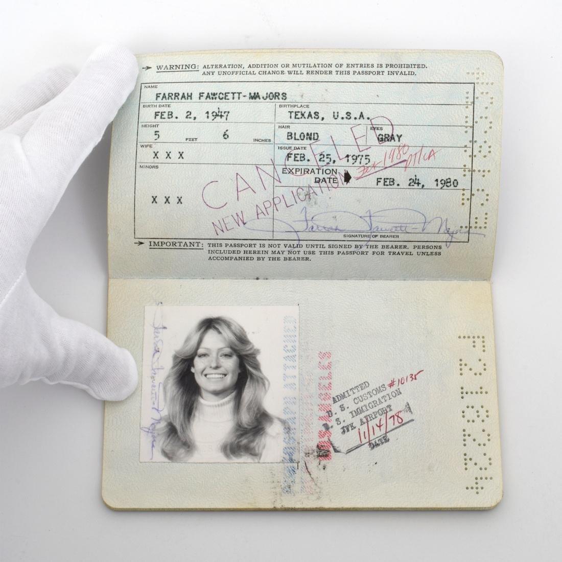 Farrah Fawcett Personal Passport