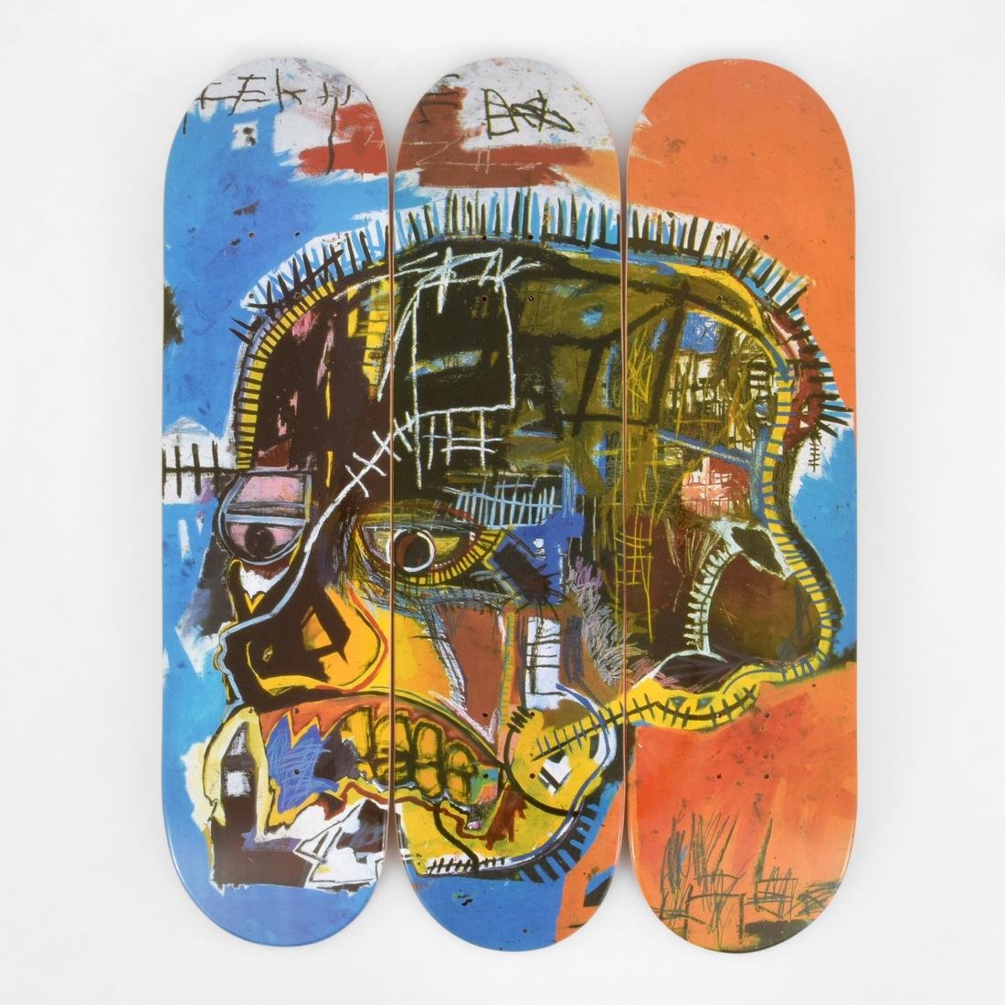 3 Jean-Michel Basquiat (after) Skateboard Decks