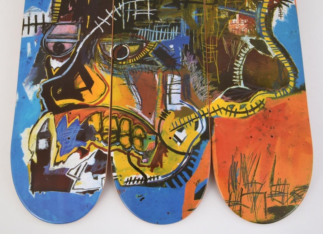 3 Jean-Michel Basquiat (after) Skateboard Decks - 4