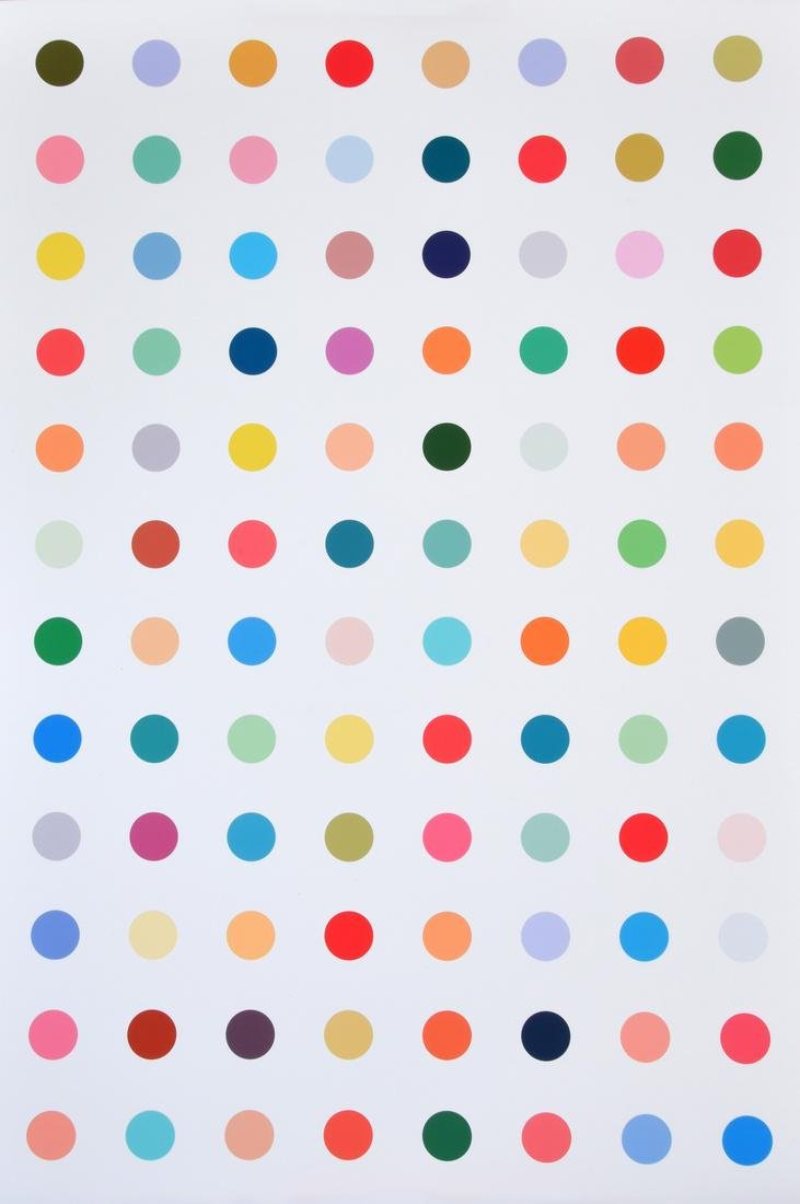 Colorful Polka Dot Print, Manner of Damien Hirst - 2