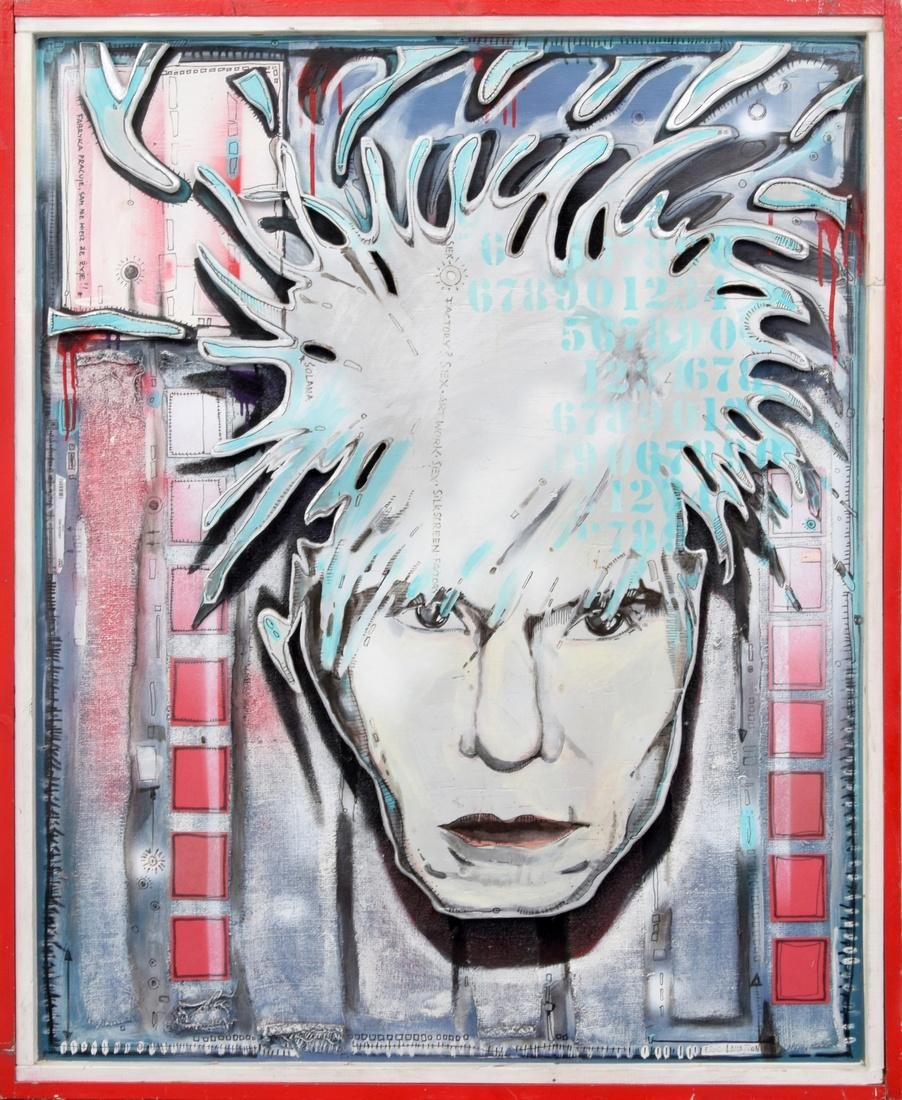 Eric Lavazzon ANDY WARHOL Painting/3D Construction