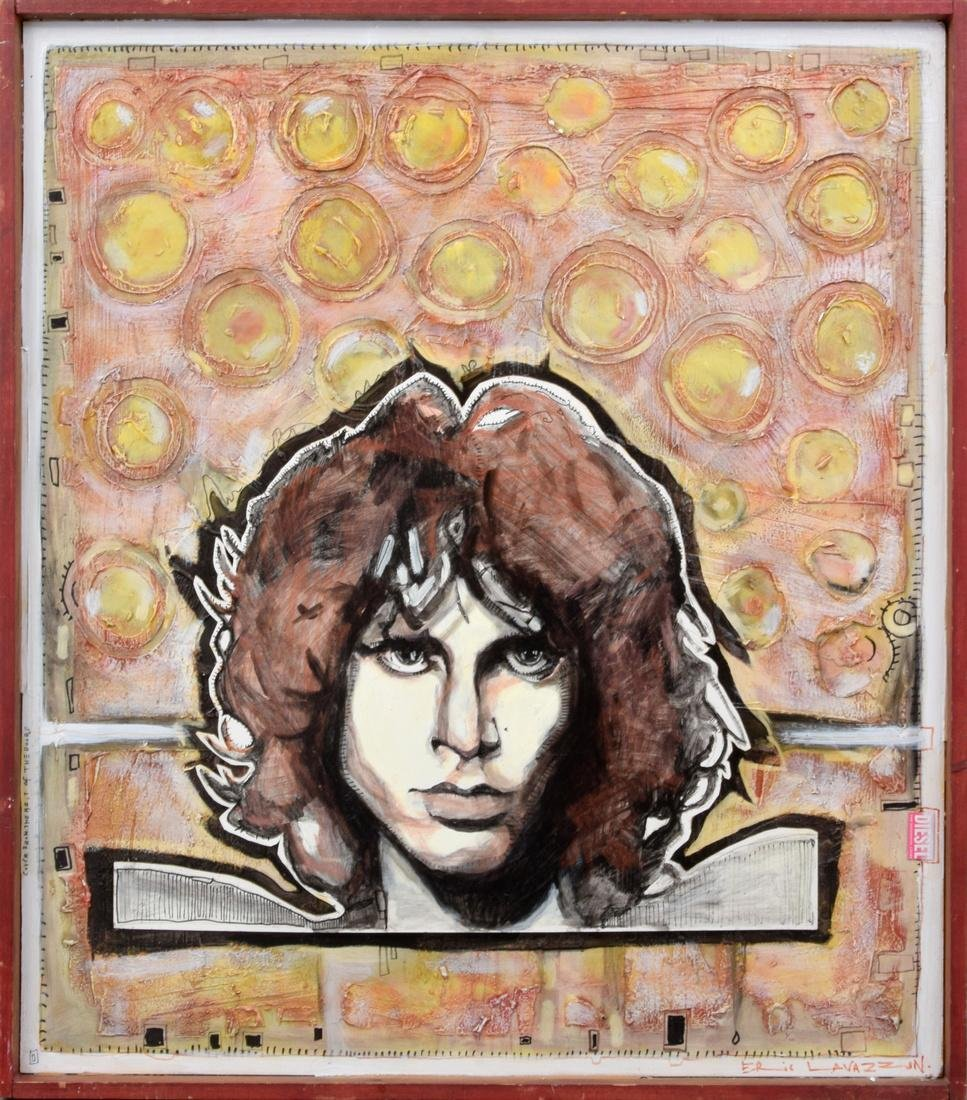 Eric Lavazzon JIM MORRISON Painting/3D Construction