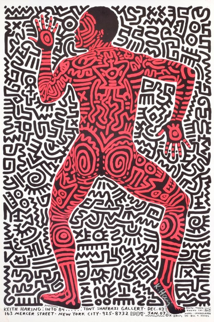 Keith Haring Exhibition Poster, Signed
