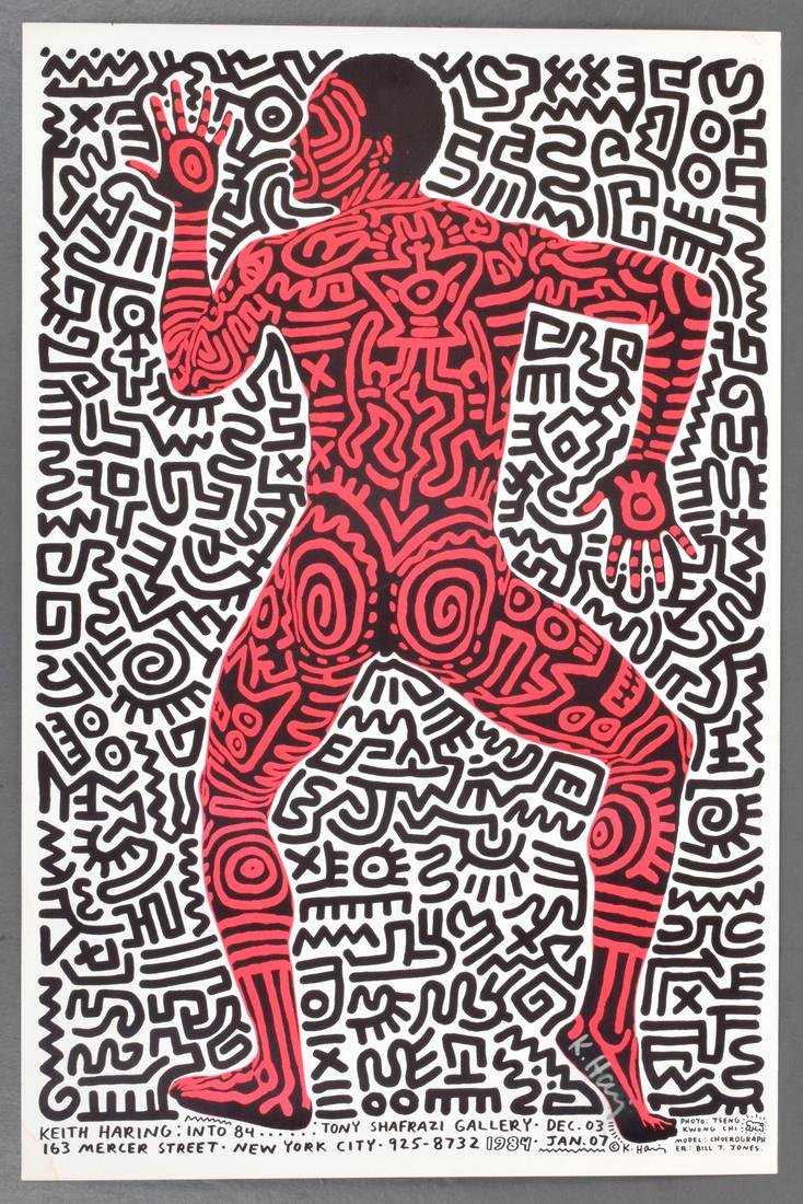 Keith Haring Exhibition Poster, Signed - 2