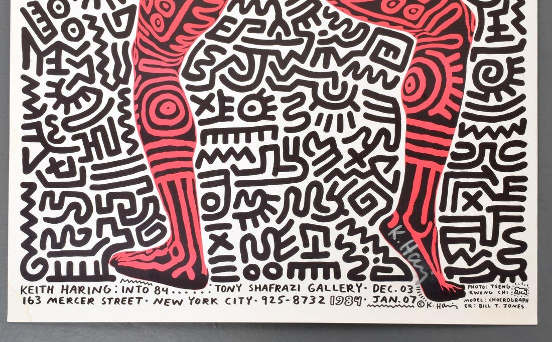 Keith Haring Exhibition Poster, Signed - 3