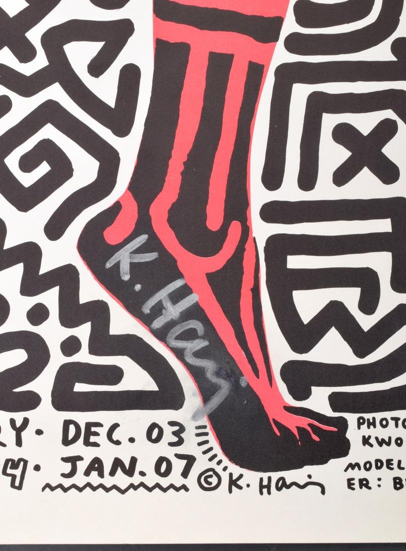 Keith Haring Exhibition Poster, Signed - 5