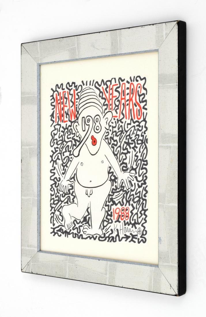 Keith Haring, LAII(Angel Ortiz) Embellished Screenprint - 2