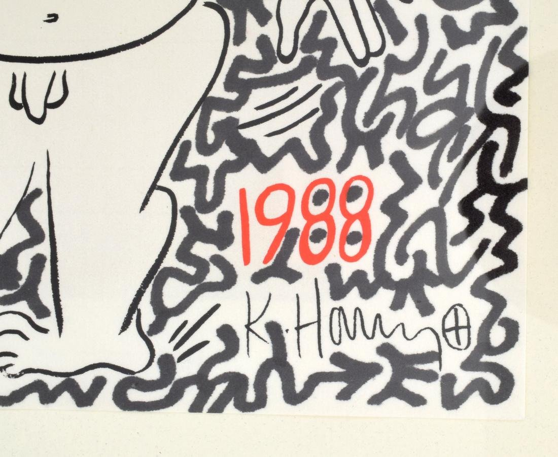 Keith Haring, LAII(Angel Ortiz) Embellished Screenprint - 3