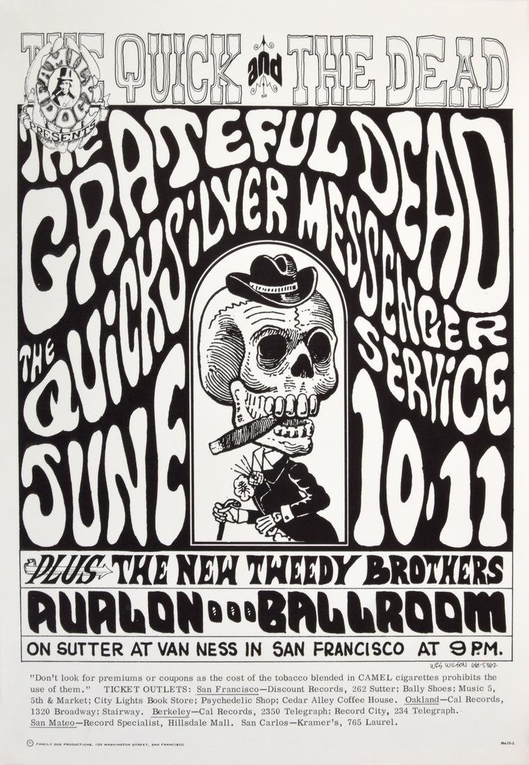 Wes Wilson THE GRATEFUL DEAD Poster