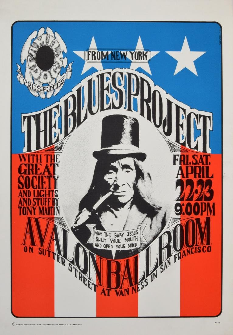 Wes Wilson THE BLUES PROJECT Poster