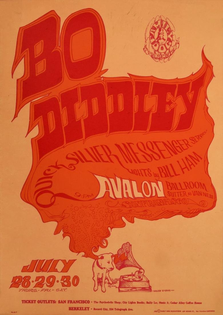 Stanley Mouse & Alton Kelley BO DIDDLEY Poster