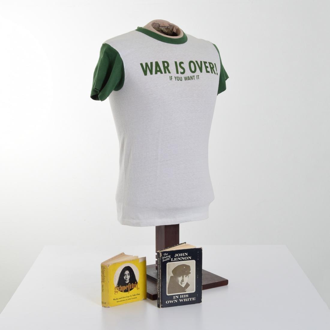 John Lennon/Yoko Ono-Designed Rare T-Shirt & 2 Books