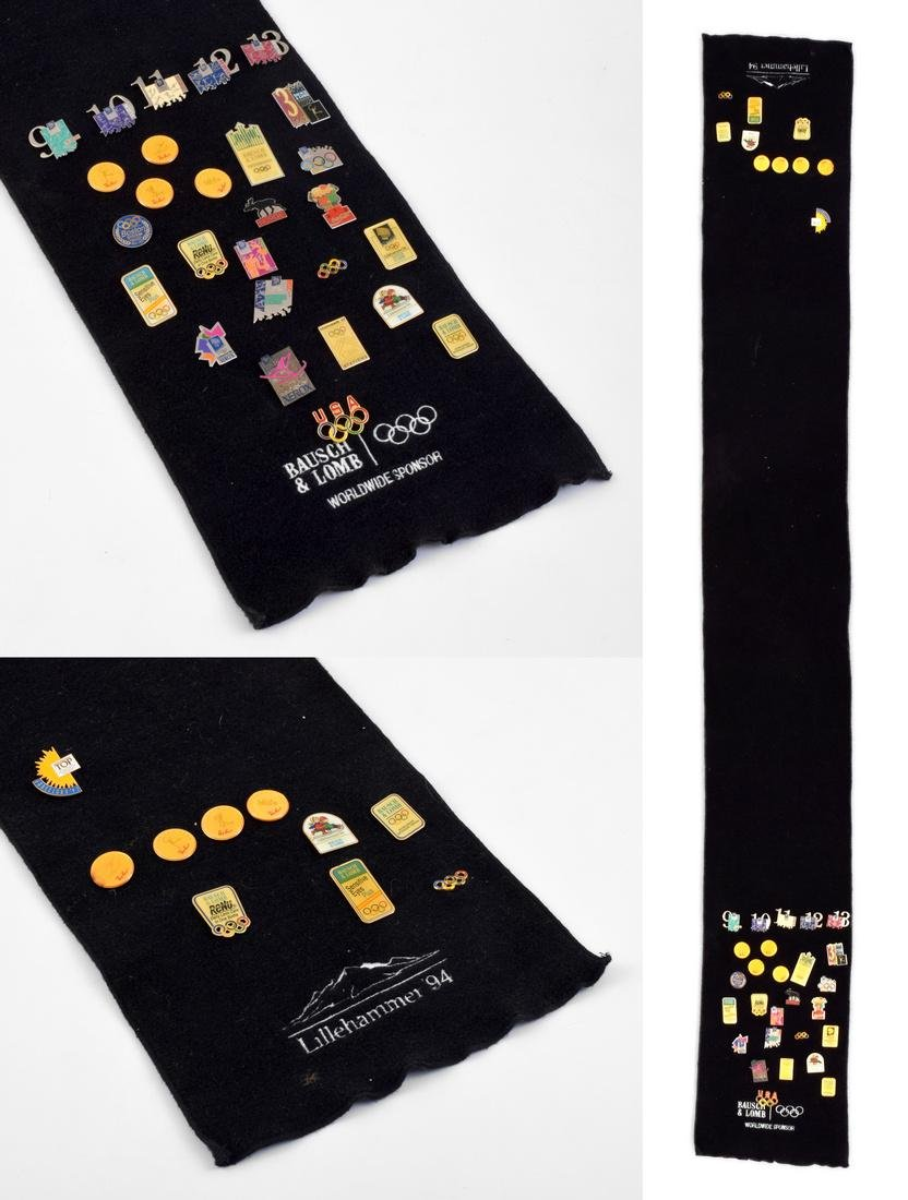 1994 Olympic Winter Games Trading Pins/Scarf