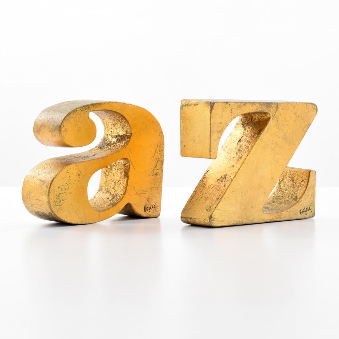 Curtis Jere A-Z Bookends/Sculptures