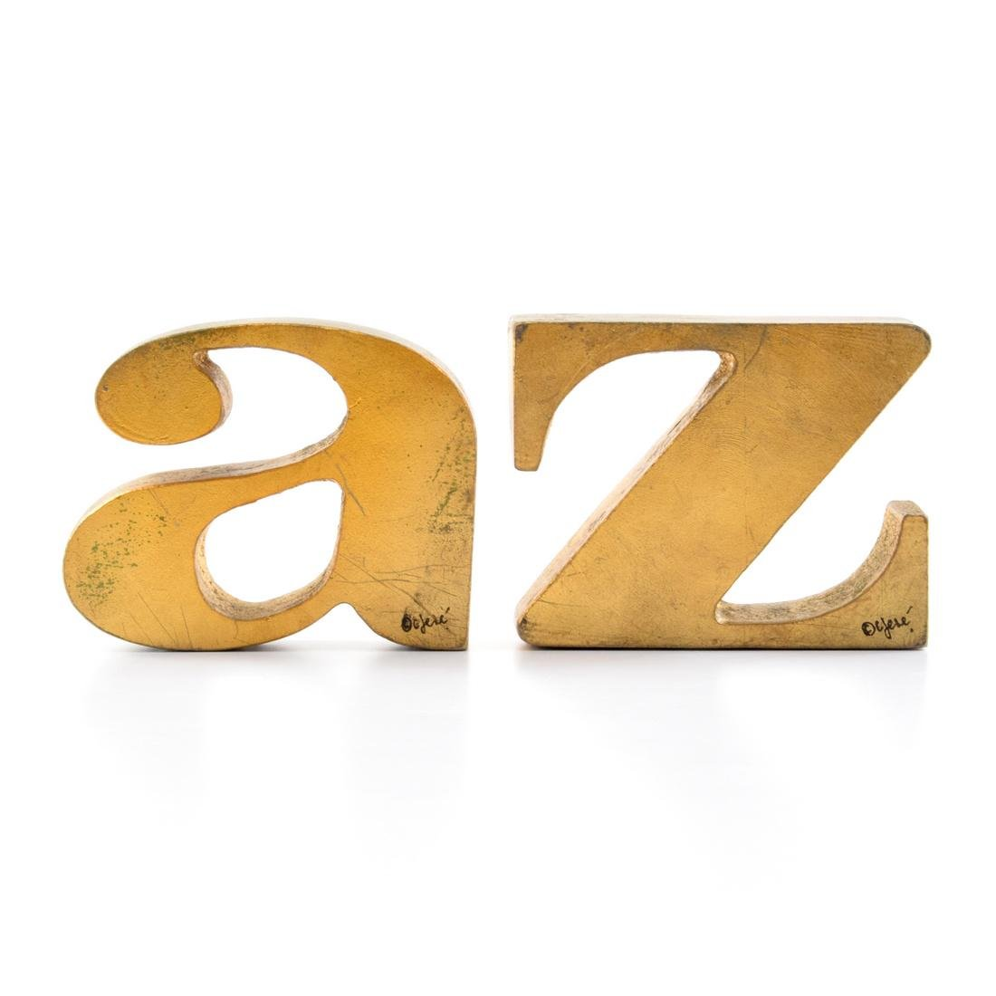 Curtis Jere A-Z Bookends/Sculptures - 7