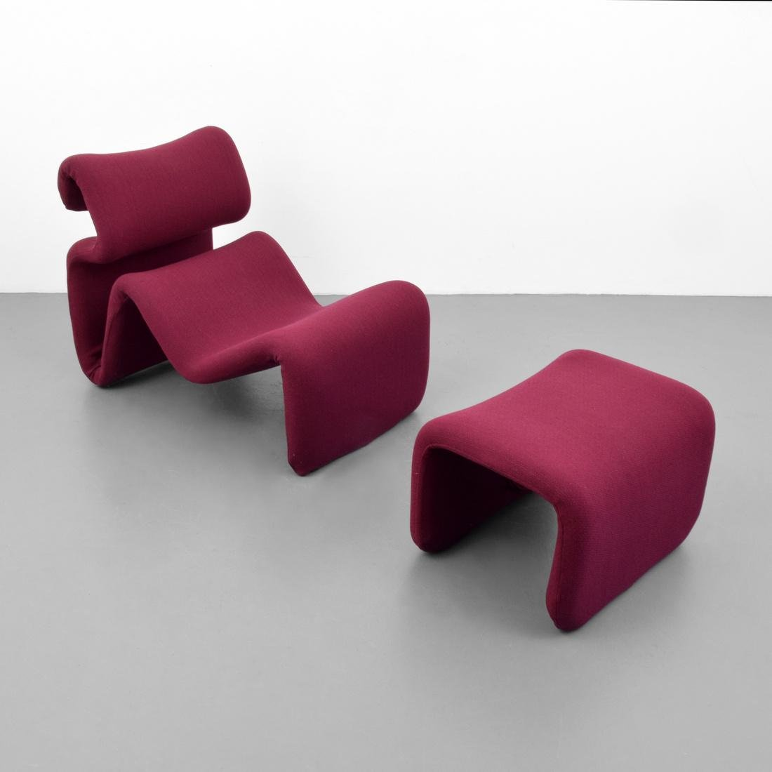 Jan Ekselius ETCETERA Lounge Chair & Ottoman