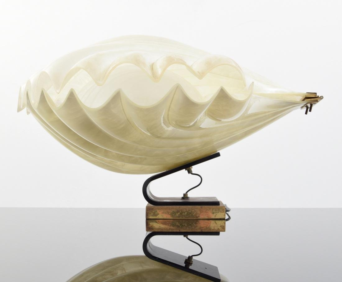 Large Rougier Clam Lamp - 2