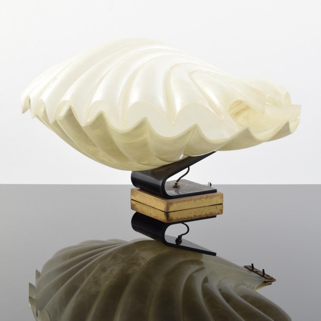 Large Rougier Clam Lamp - 9