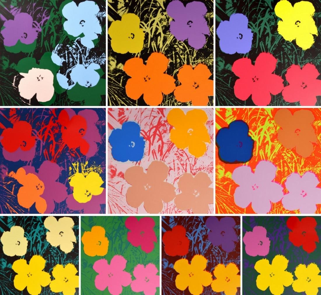 Andy Warhol (after) FLOWERS Portfolio, 10 Prints