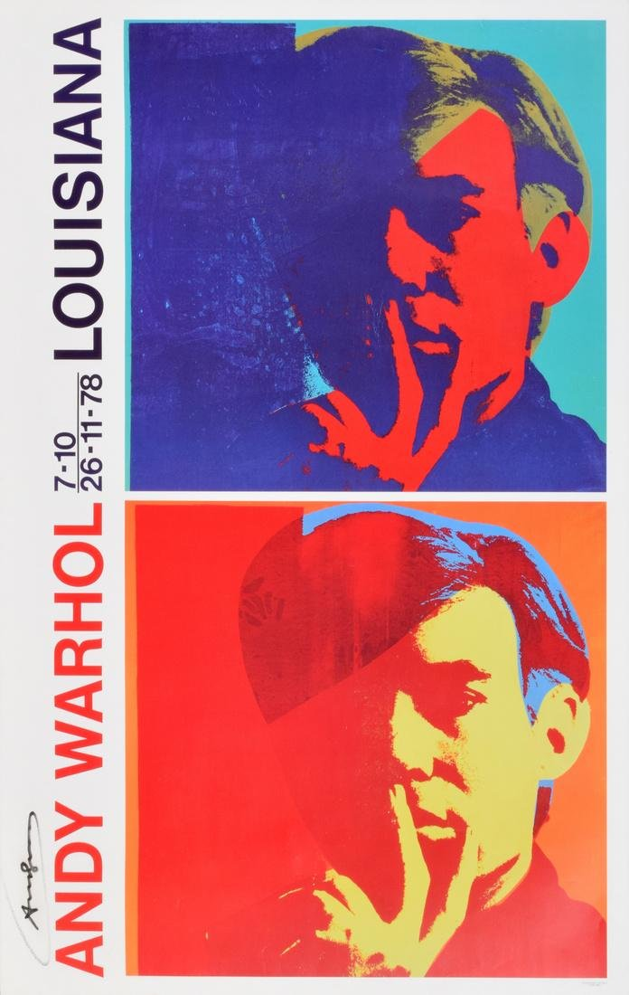 Andy Warhol DOUBLE SELF-PORTRAIT Poster, Signed