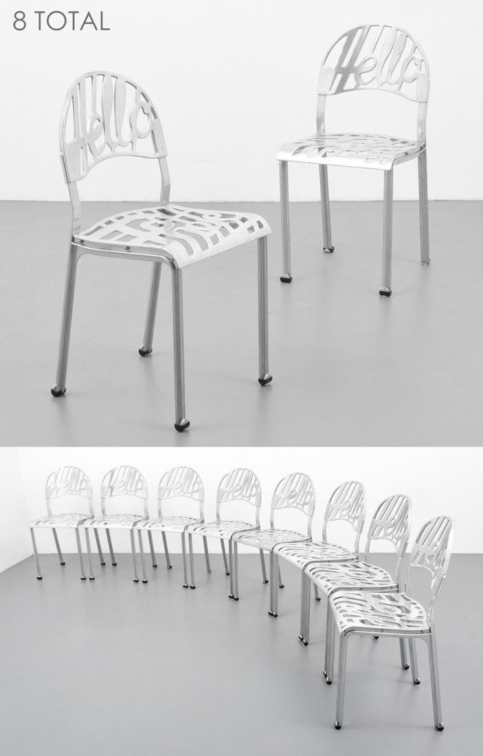 Jeremy Harvey HELLO THERE Chairs, Set of 8