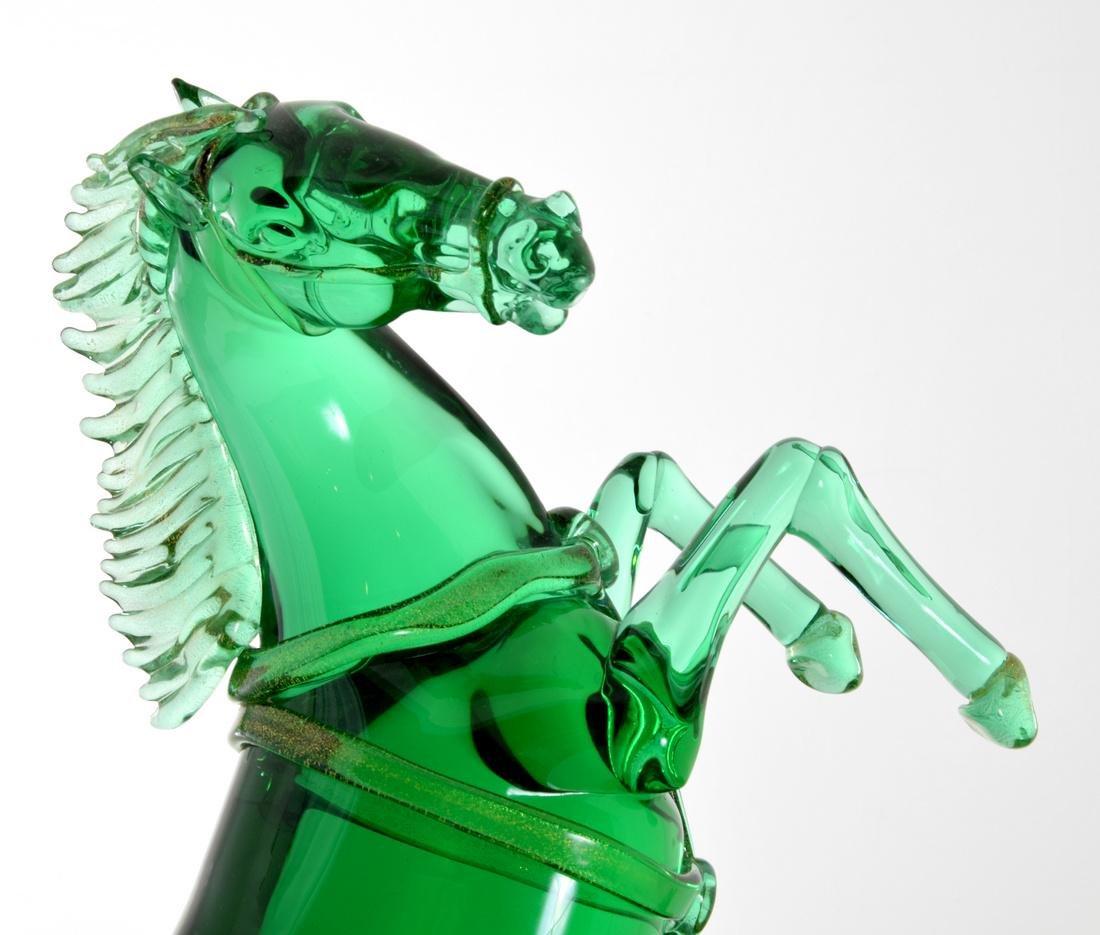Pair of Large Pino Signoretto Horse Sculptures, Murano - 3