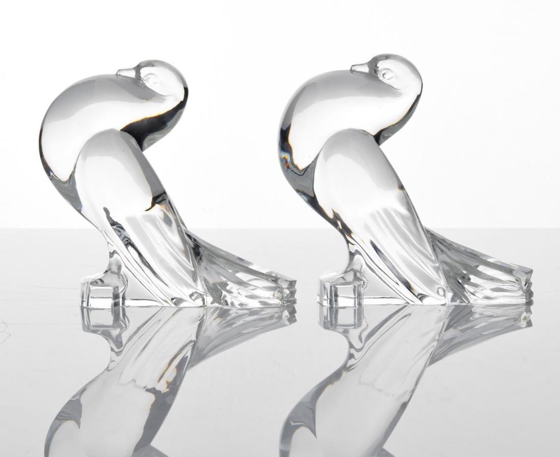 Pair of Steuben Birds - 2
