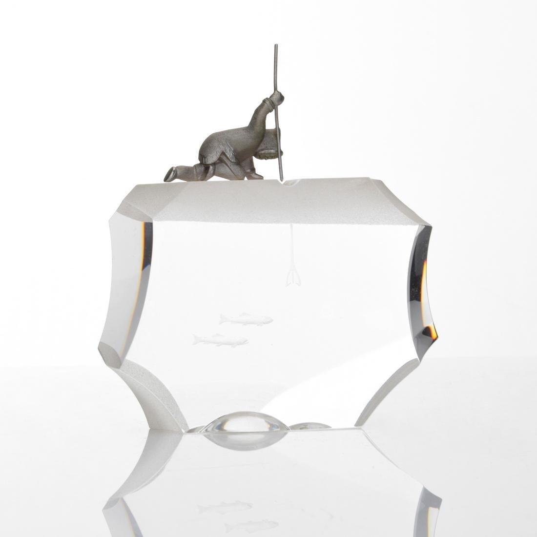 Steuben ARCTIC FISHERMAN Sculpture