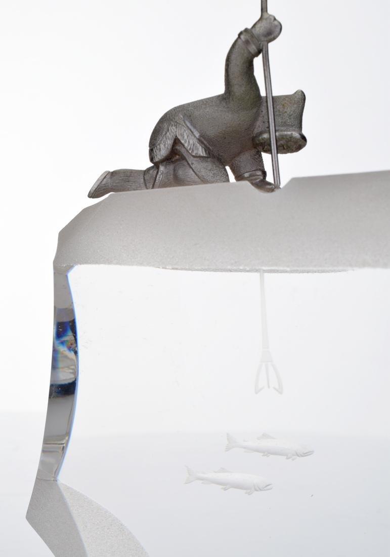 Steuben ARCTIC FISHERMAN Sculpture - 3