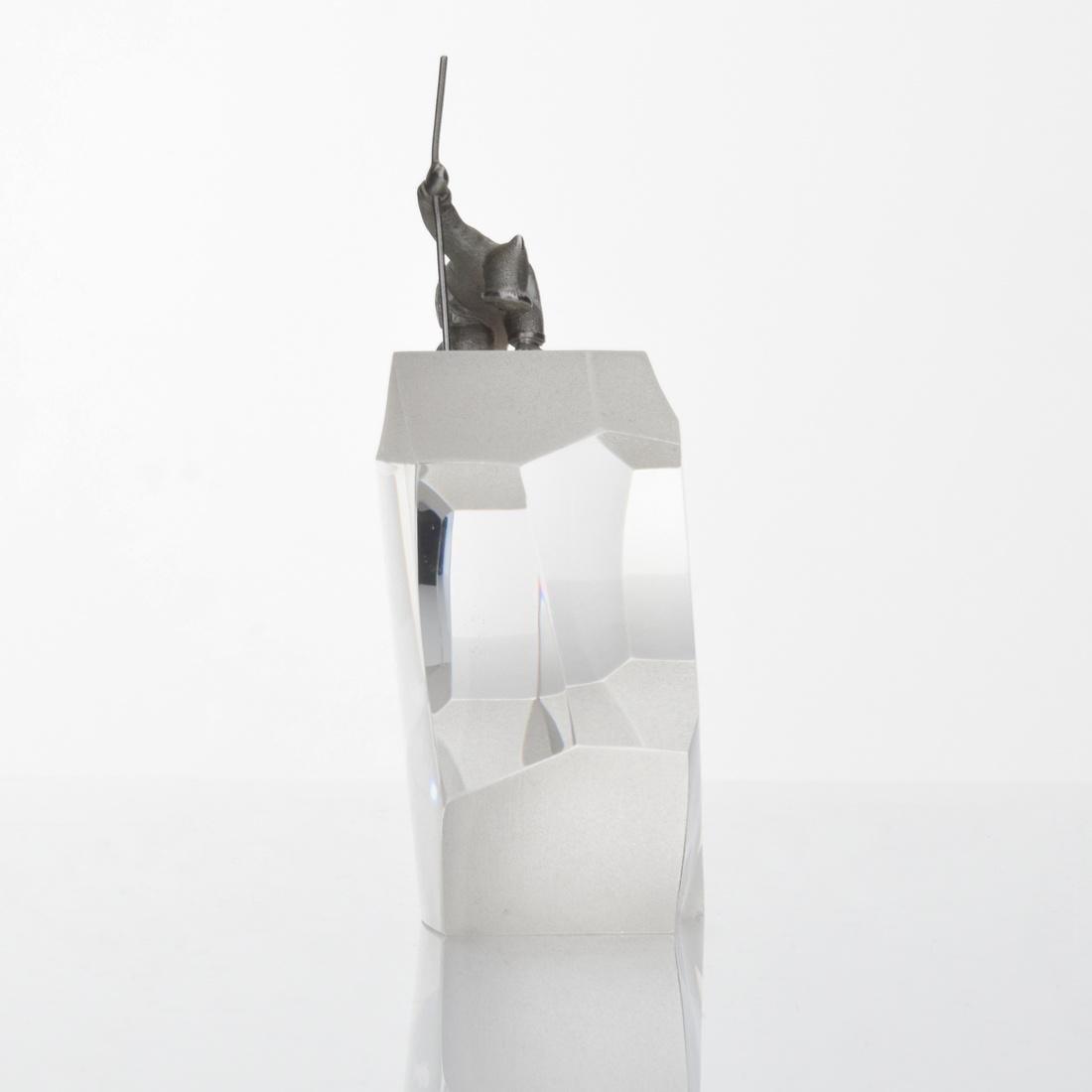 Steuben ARCTIC FISHERMAN Sculpture - 8