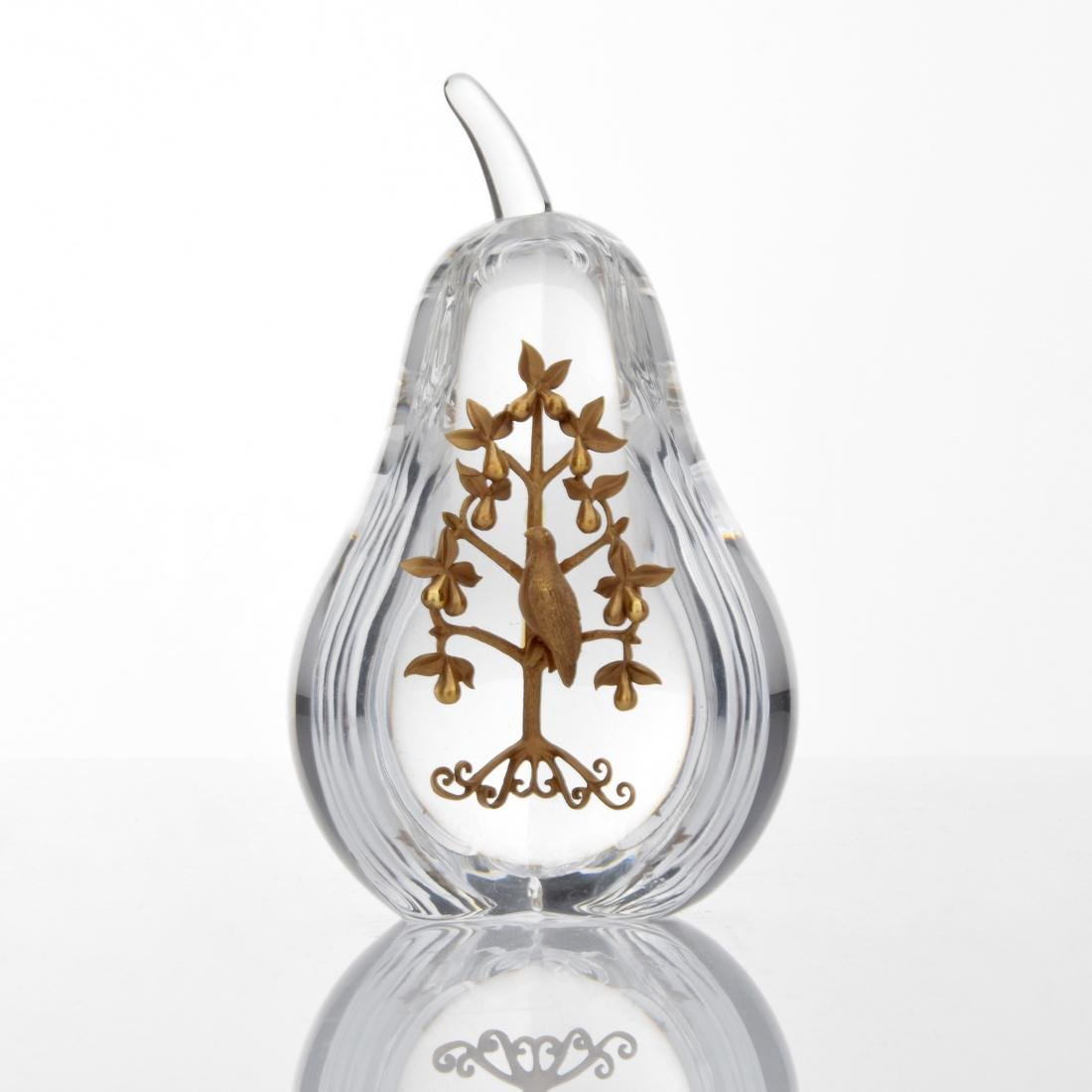 Steuben PARTRIDGE IN A PEAR TREE Paperweight