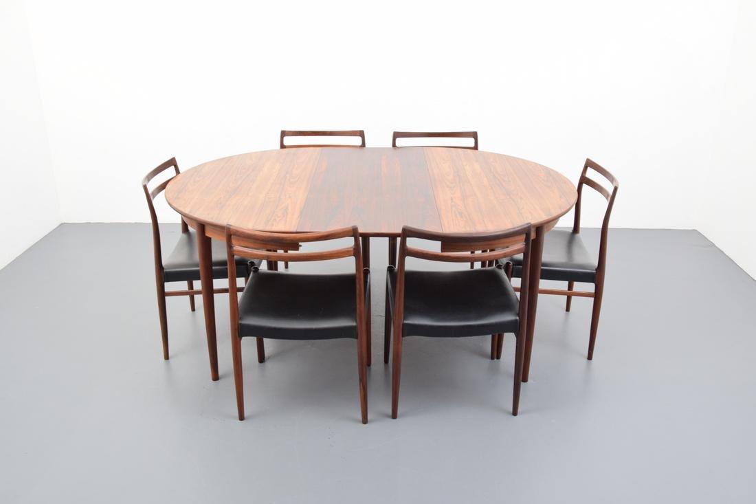 Gustav Bahus Rosewood Dining Table - 5