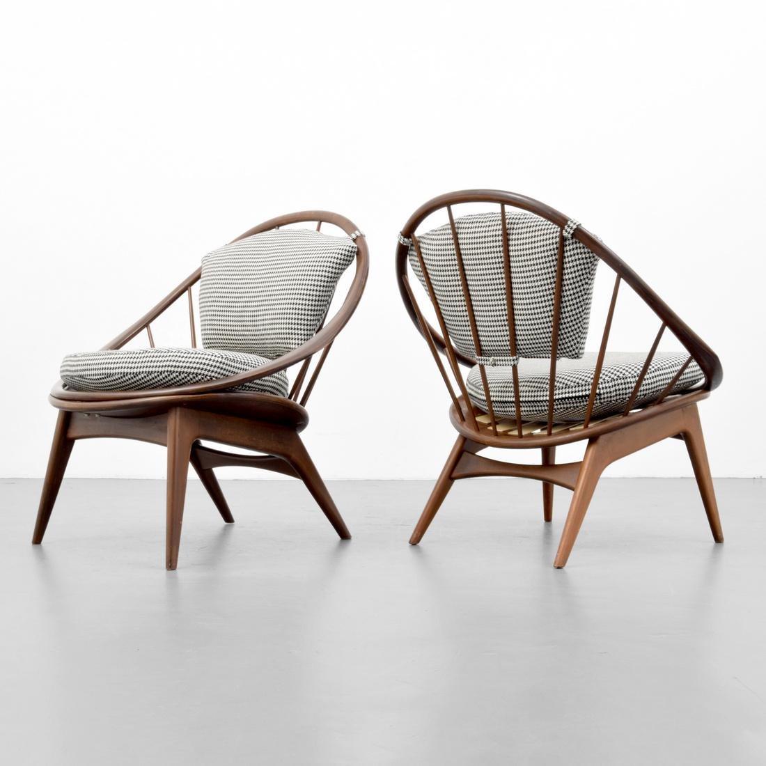 Pair of Ib Kofod-Larsen HOOP Chairs