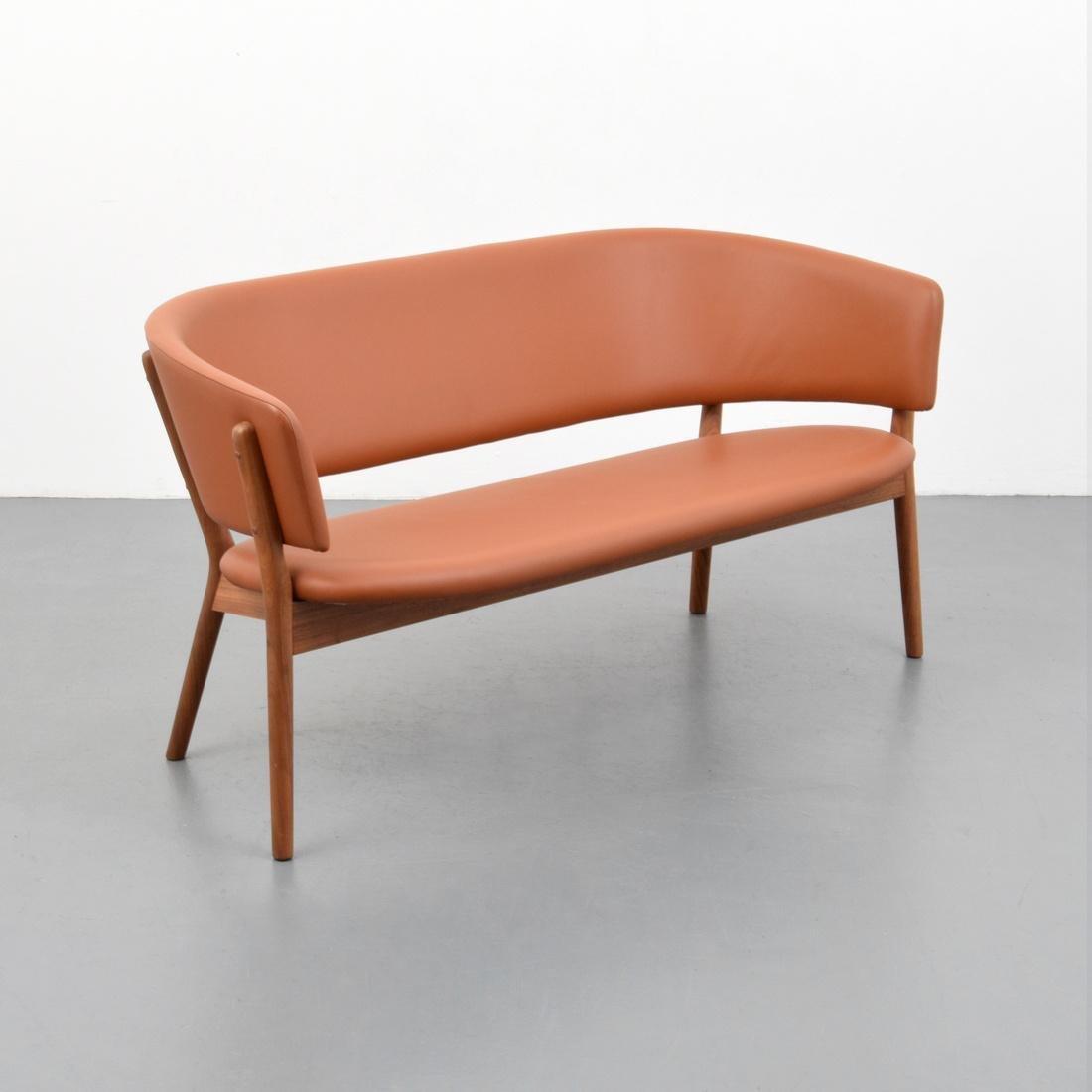 Nanna & Jorgen Ditzel Leather Sofa