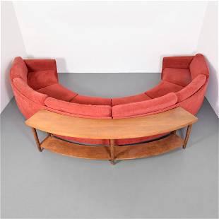 Large Milo Baughman Sectional Sofa & Table