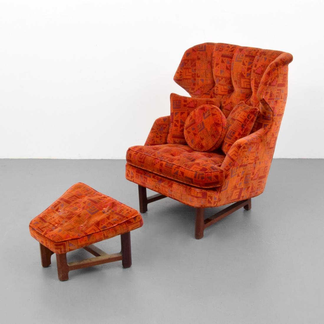 Edward Wormley Lounge Chair & Ottoman