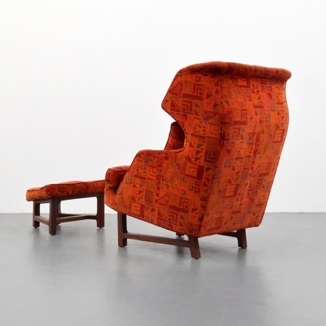 Edward Wormley Lounge Chair & Ottoman - 3