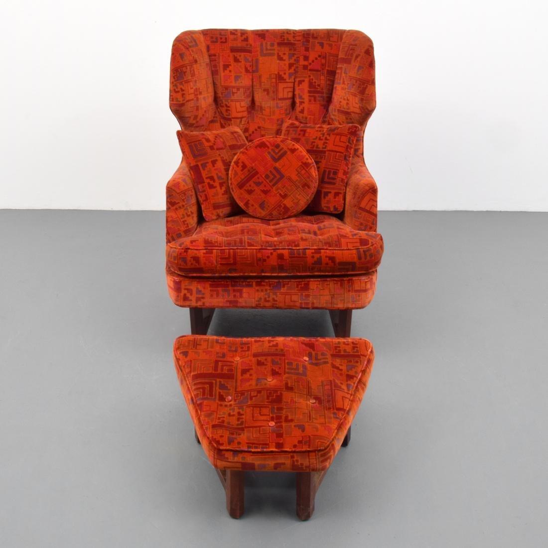 Edward Wormley Lounge Chair & Ottoman - 7