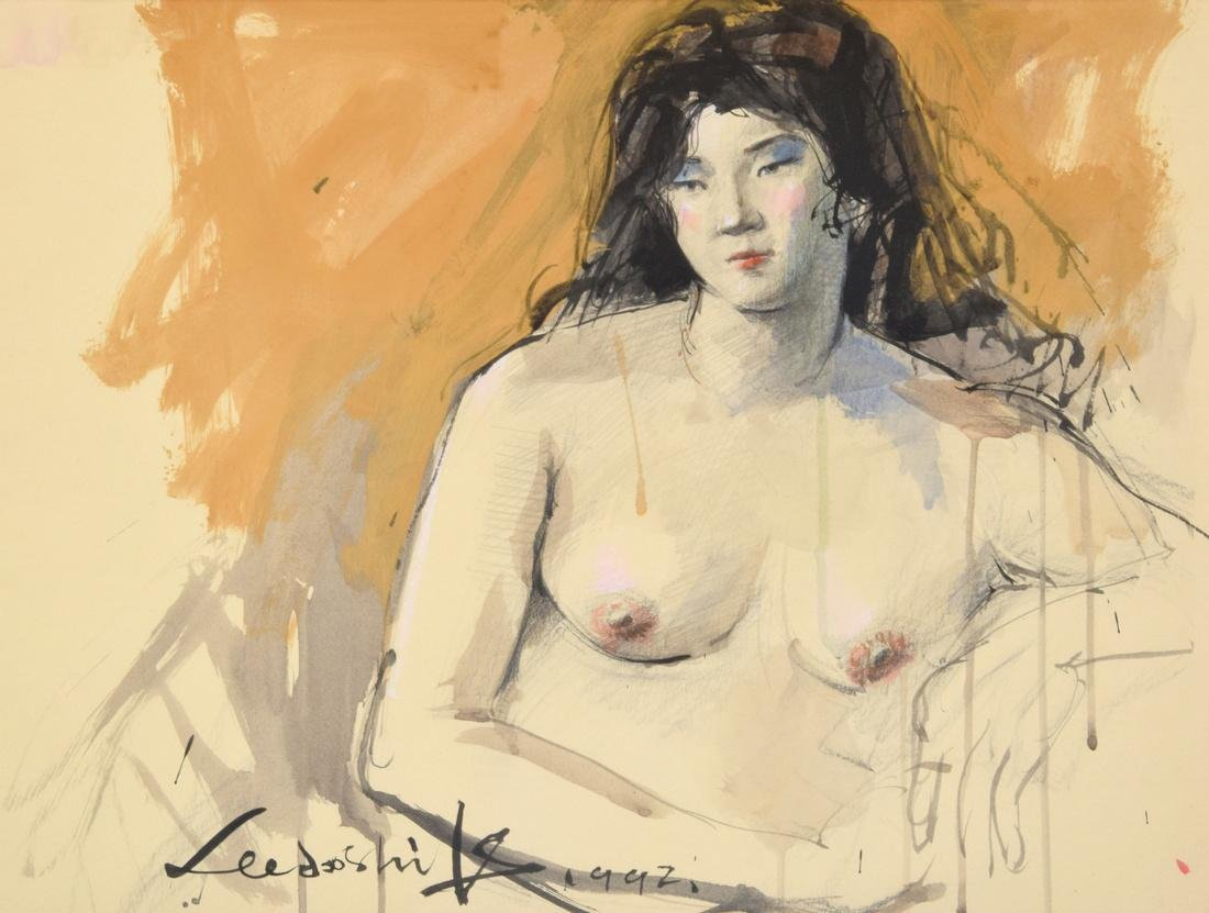 Lee Doo Shik Mixed Media Painting, Original Work