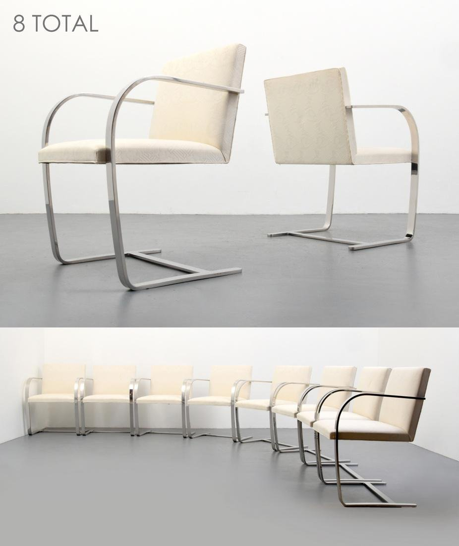 Ludwig Mies van der Rohe BRNO Arm Chairs, Set of 8