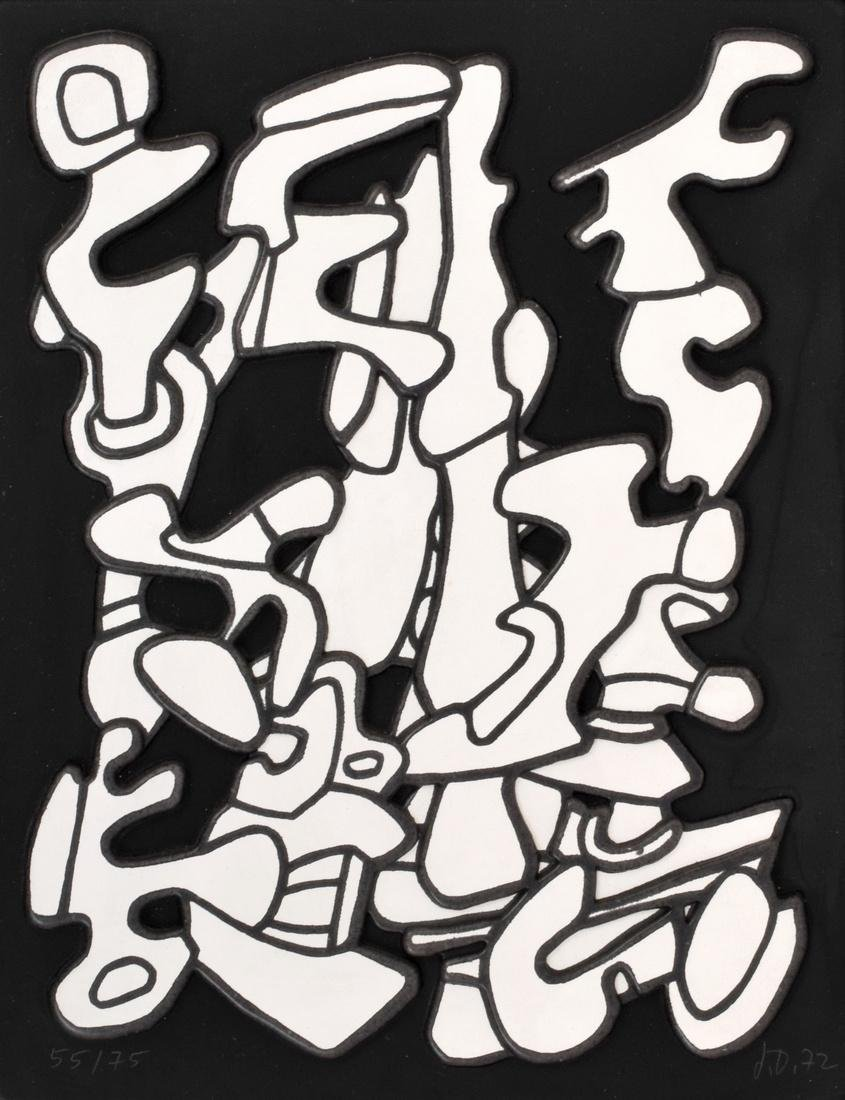 Jean Dubuffet Relief Serigraph, Signed Edition