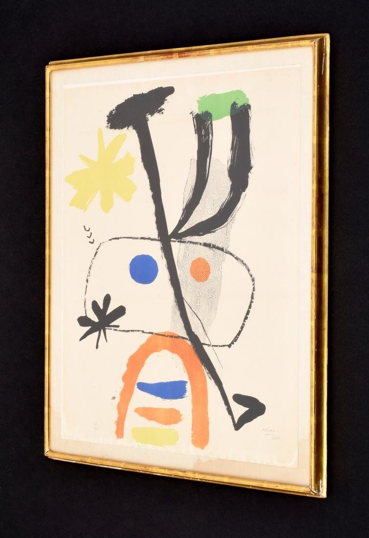 Joan Miro PERSONNAGE WITH STARS Lithograph, Signed - 2