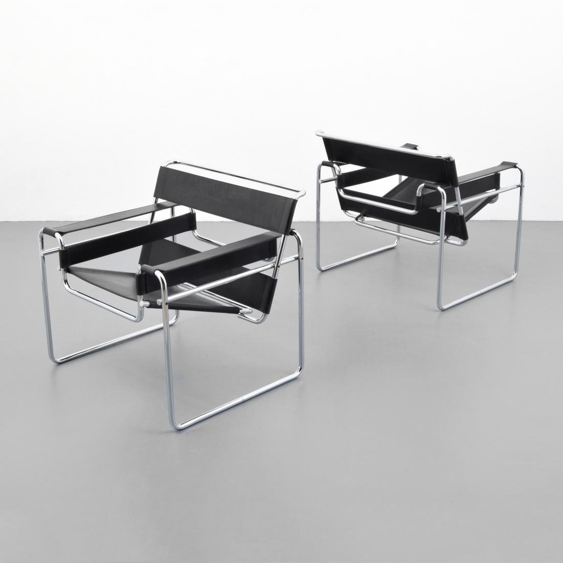 Pair of Marcel Breuer WASSILY Club Chairs