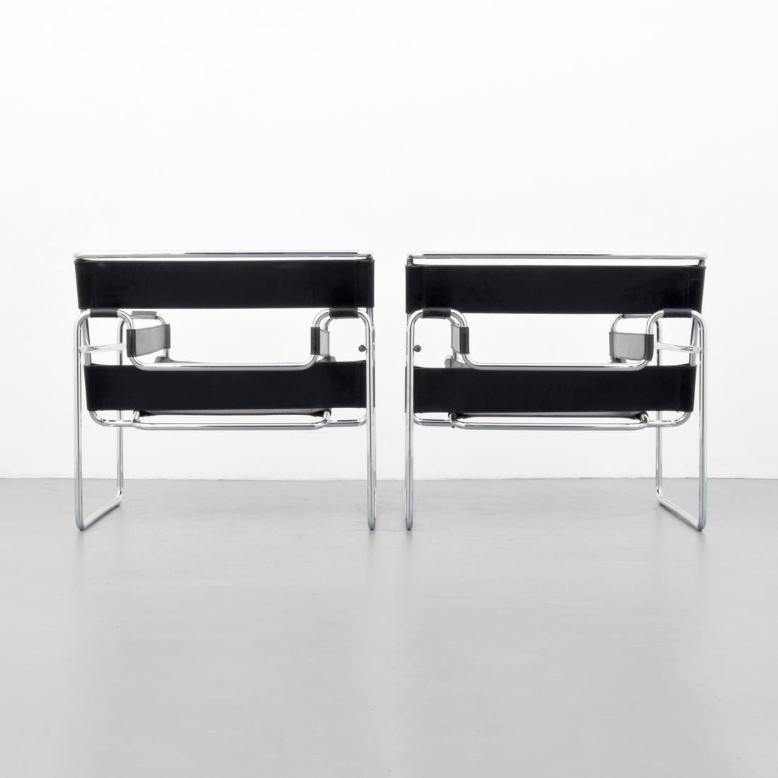 Pair of Marcel Breuer WASSILY Club Chairs - 3