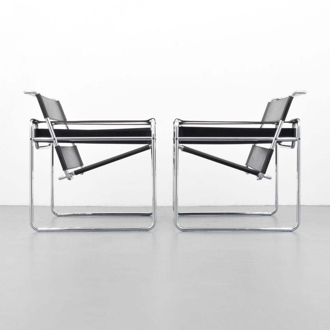 Pair of Marcel Breuer WASSILY Club Chairs - 4
