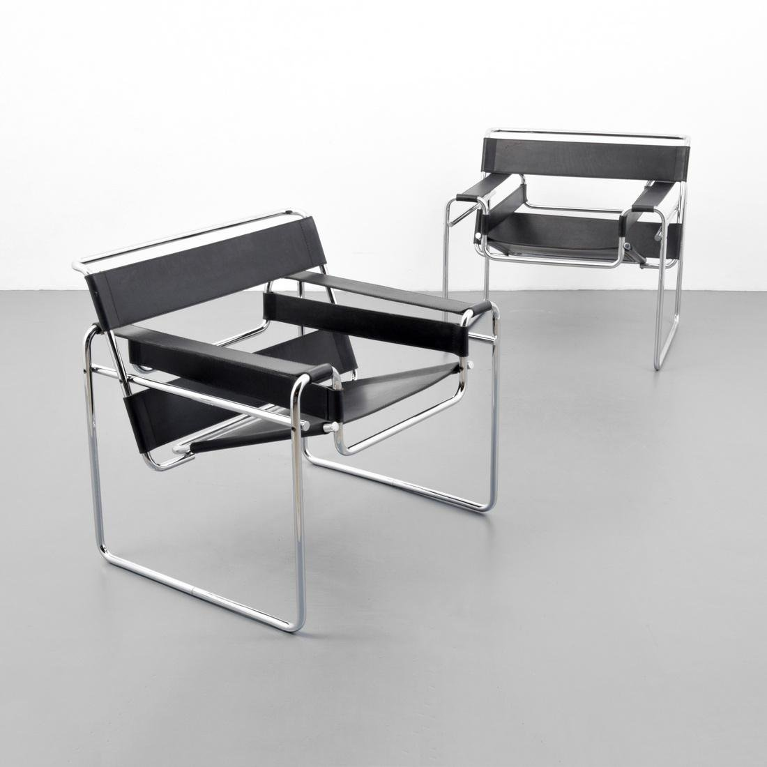 Pair of Marcel Breuer WASSILY Club Chairs - 5