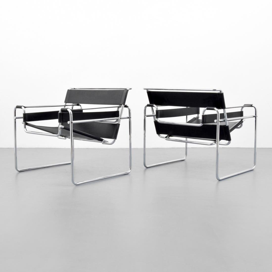Pair of Marcel Breuer WASSILY Club Chairs - 6