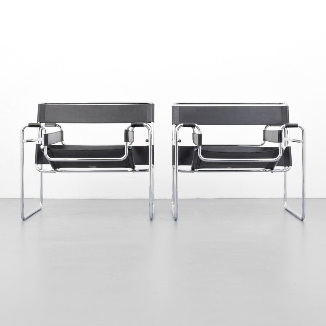 Pair of Marcel Breuer WASSILY Club Chairs - 9