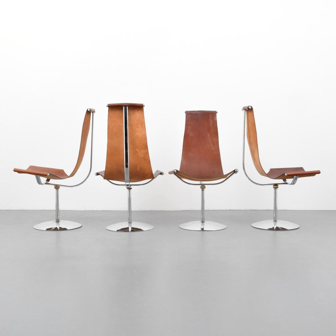 4 Leather Sling Chairs, Manner of Laverne - 2