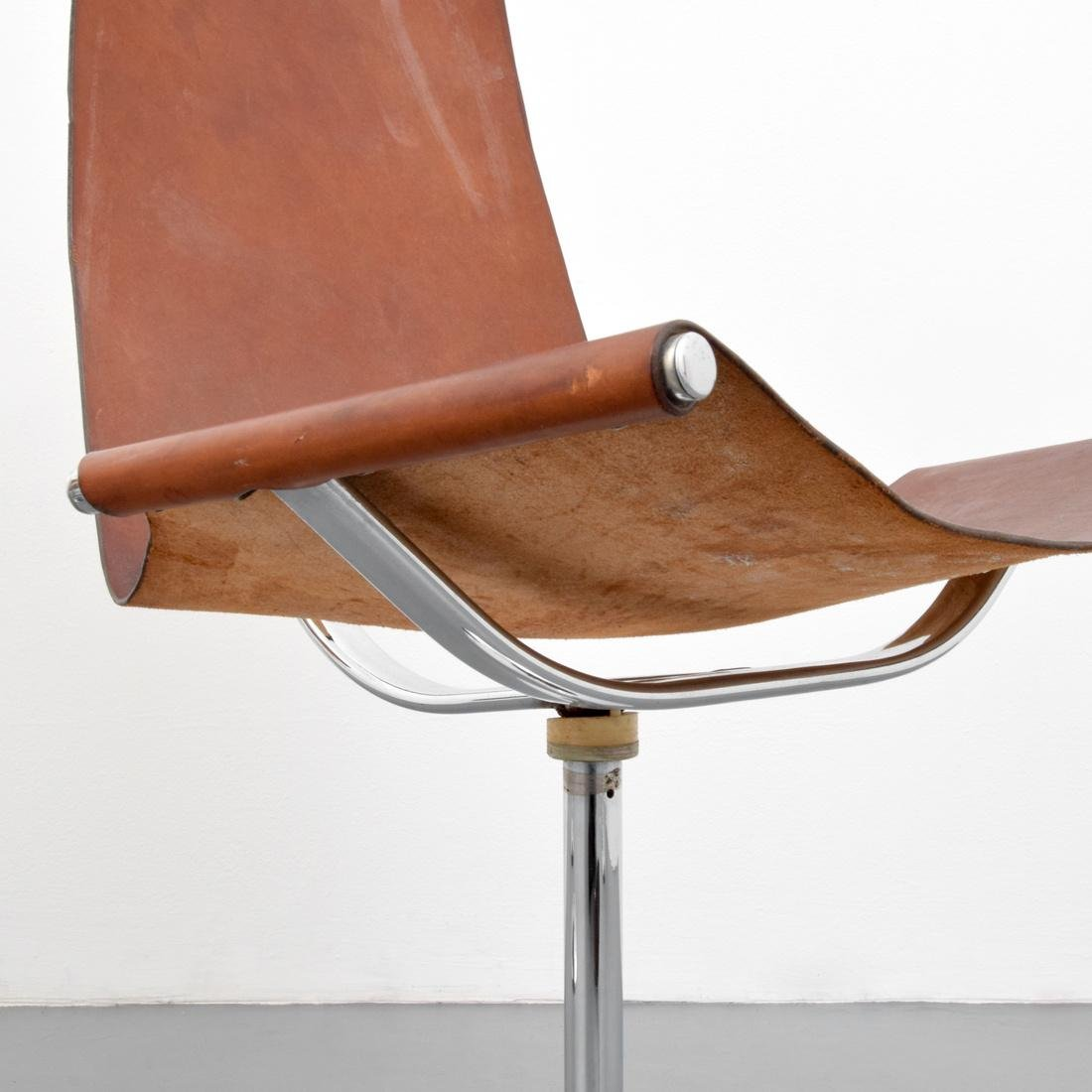 4 Leather Sling Chairs, Manner of Laverne - 4